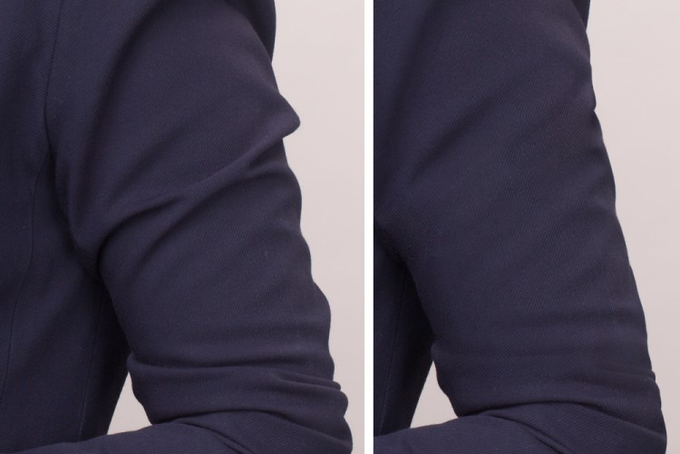 Zwei- und Dreidimensionale digitale Glättung von Kleiderfalten, die beispielsweise bei elastischen Stoffen bei gewissen Posen vorkommen